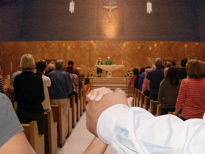 Holding Hands at St. John's Church